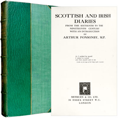 Scottish and Irish Diaries: From the Sixteenth to the Nineteenth Century