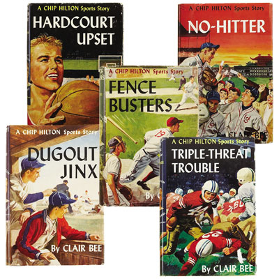 Five Chip Hilton classics – Dugout Jinx, Fence Busters, Hardcourt Upset, No-Hitter, and Triple-Threat Trouble