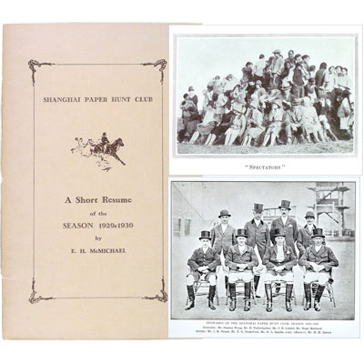 Shanghai Paper Hunt Club - A Short Resume of the Season 1929-1930.