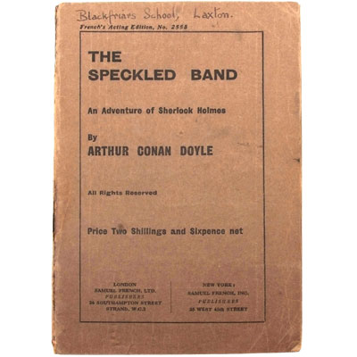 The Speckled Band, An Adventure of Sherlock Holmes