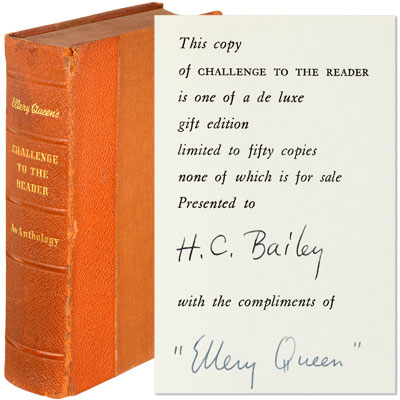 Ellery Queen's Challenge to the Reader - Inscribed
