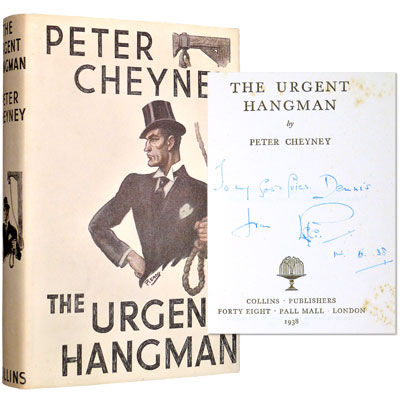 The Urgent Hangman - Inscribed to Dennis Wheatley