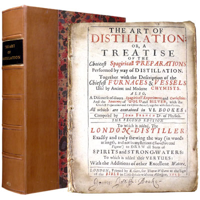 The Art of Distillation, or A Treatise of the Choicest Spagyricall Preparations performed by way of Distillation. Together with the Description of the Chiefest Furnaces and Vessels used by Ancient and Moderne Chymists. Also, A Discourse of divers Spagyricall Experiment, and Curiosities: And the Anatomy of Gold and Silver, with the Chiefest Preparations and Curiosities thereof; together with their Vertues. To which is added, The London-Distiller:  Exactly and truly shewing the way (in words at length, and not in mysterious Characters and Figures) to Draw all Sorts of Spirits and Strong-Waters: To which is added their Vertues: With the Additions of other Excellent Waters.