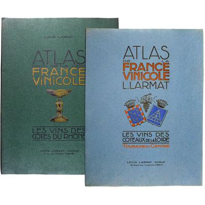 Atlas de la France Vinicole - III. Les Vins du Côte du Rhône - with - V. Les Vins des Côteaux de la Loire, Touraine et Centre