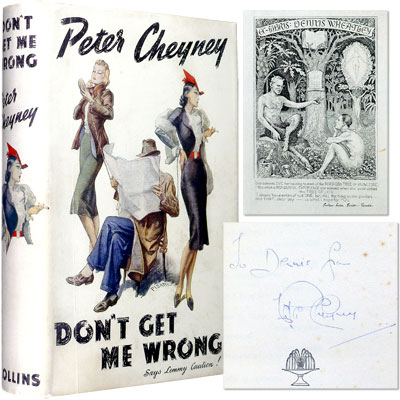Don't Get Me Wrong - Inscribed to Dennis Wheatley