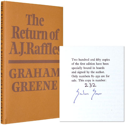 The Return of A. J. Raffles - Signed